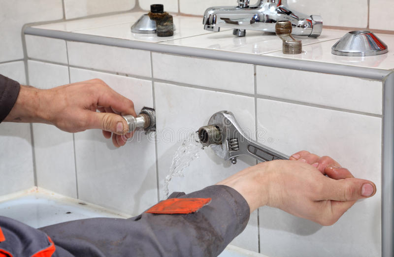 Impianto idraulico immagine stock