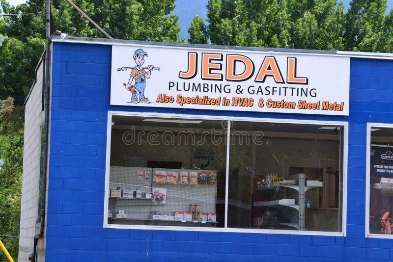 Impianto idraulico Grand Forks BC Canada di JEDAL immagini stock libere da diritti
