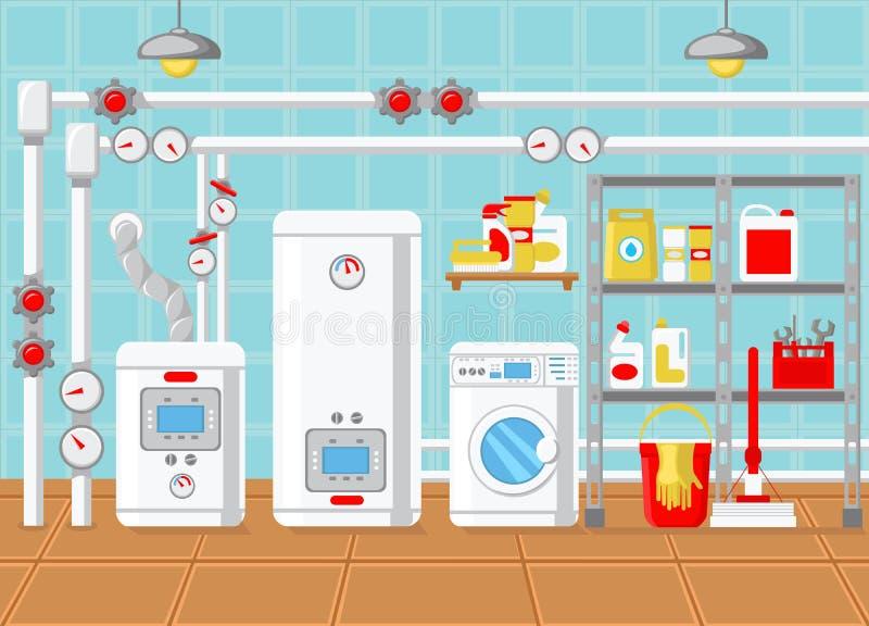 Impianto idraulico nel concetto della Camera Illustrazione di vettore royalty illustrazione gratis