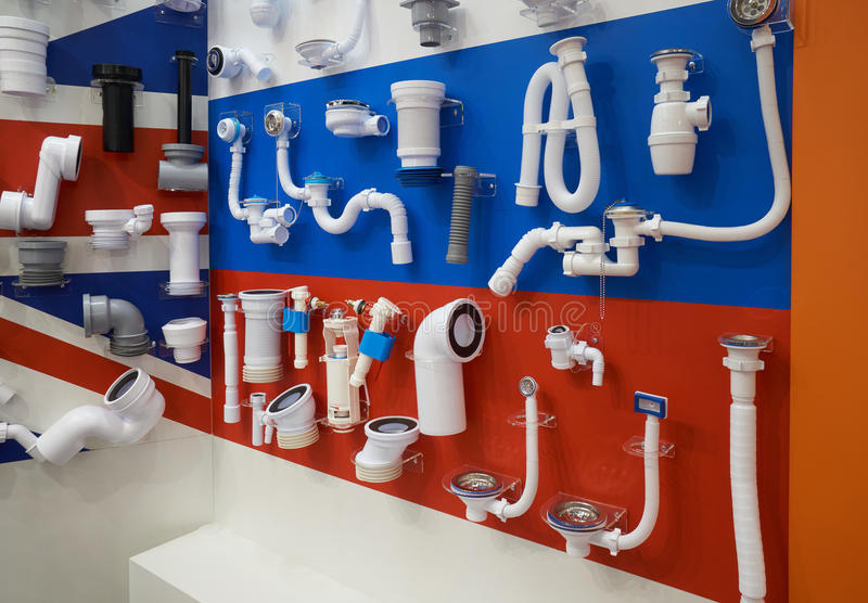 Impianto idraulico per le acque luride immagini stock libere da diritti