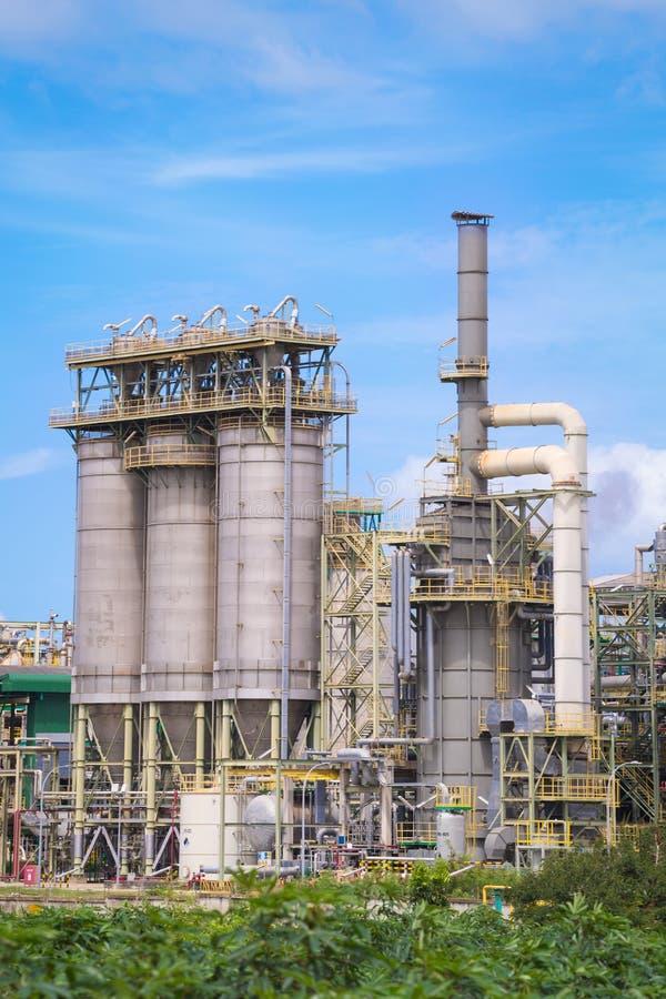 Impianto industriale chimico della raffineria immagini stock
