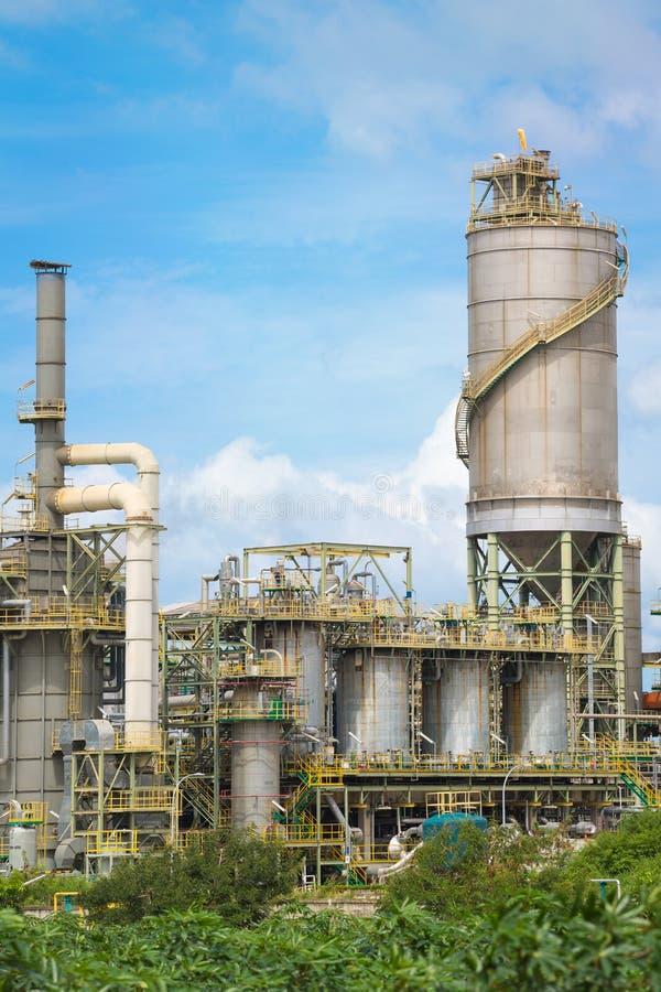 Impianto industriale chimico della raffineria fotografie stock libere da diritti