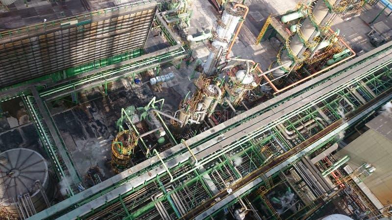Impianto industriale da sopra immagine stock libera da diritti