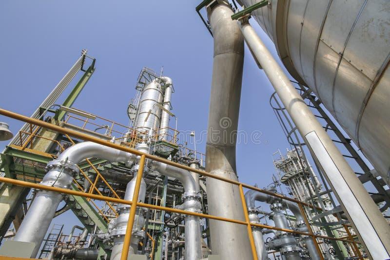 Impianto industriale e del petrolio immagine stock libera da diritti