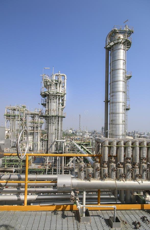 Impianto industriale e del petrolio fotografia stock