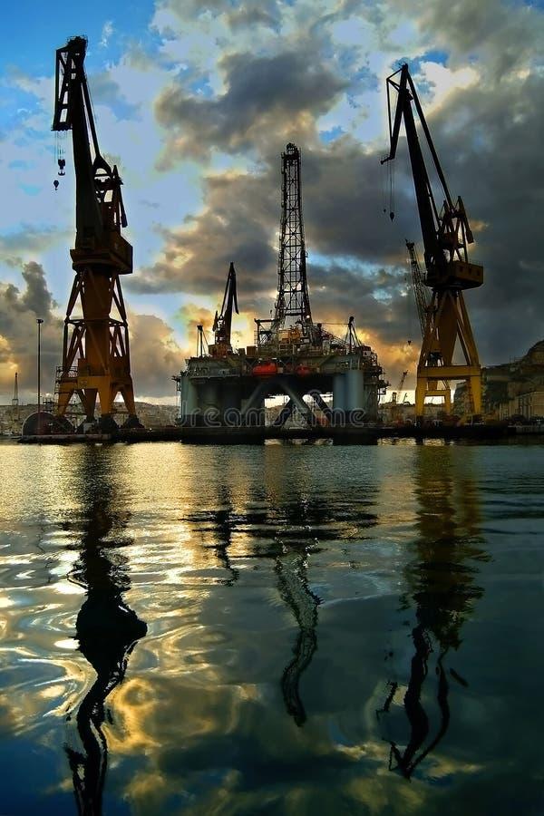 Impianto offshore immagine stock libera da diritti