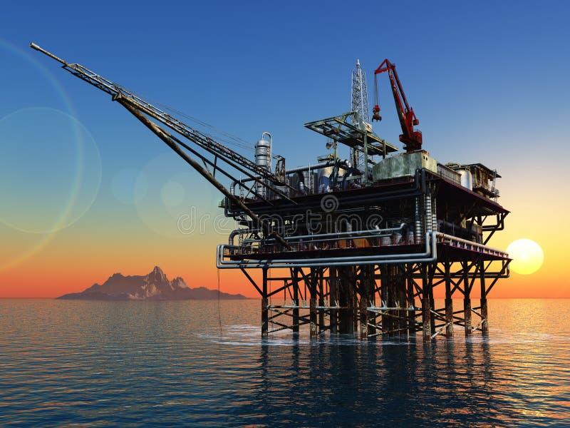 Impianto offshore royalty illustrazione gratis