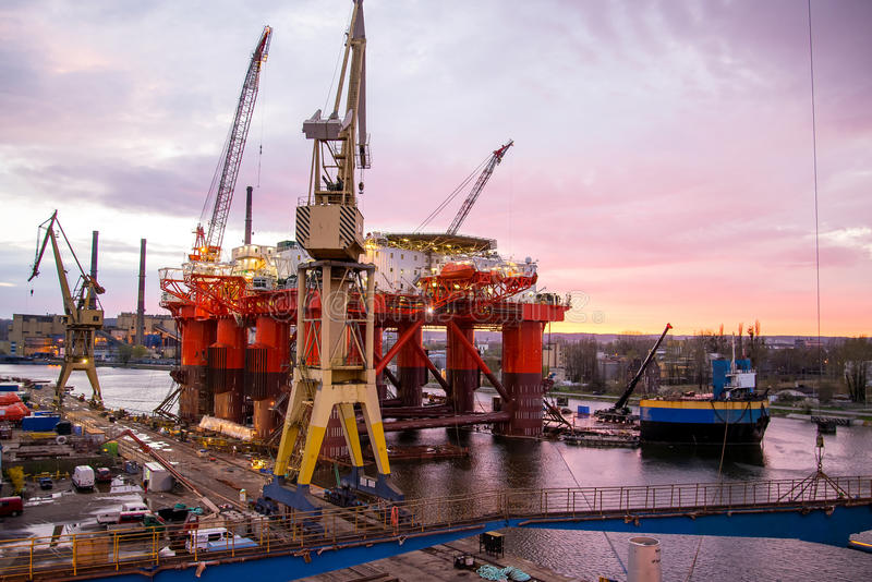 Impianto offshore fotografia stock