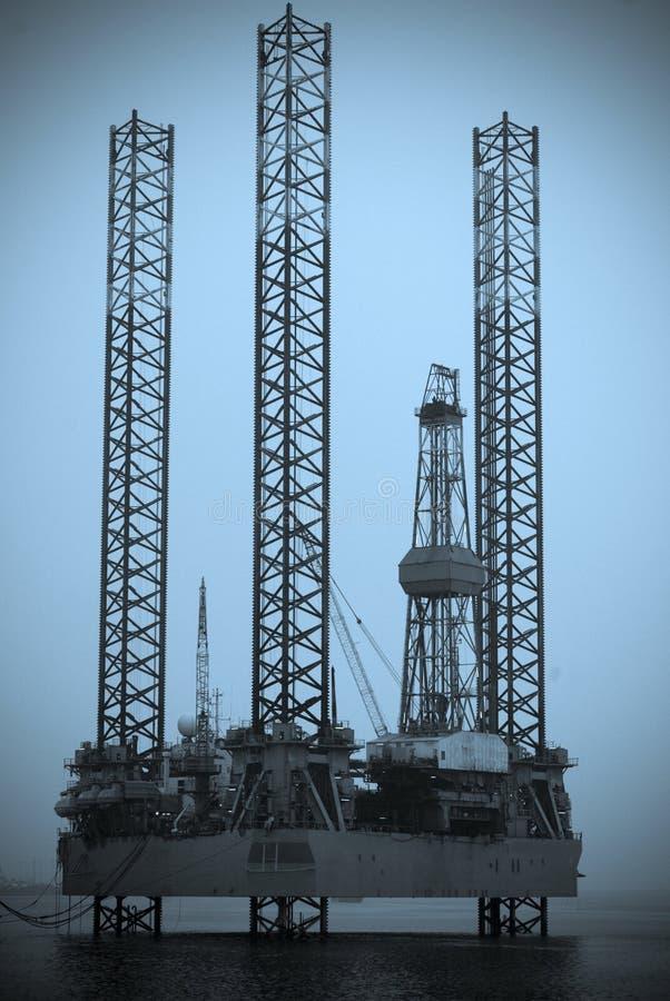 Impianto offshore danese fotografie stock