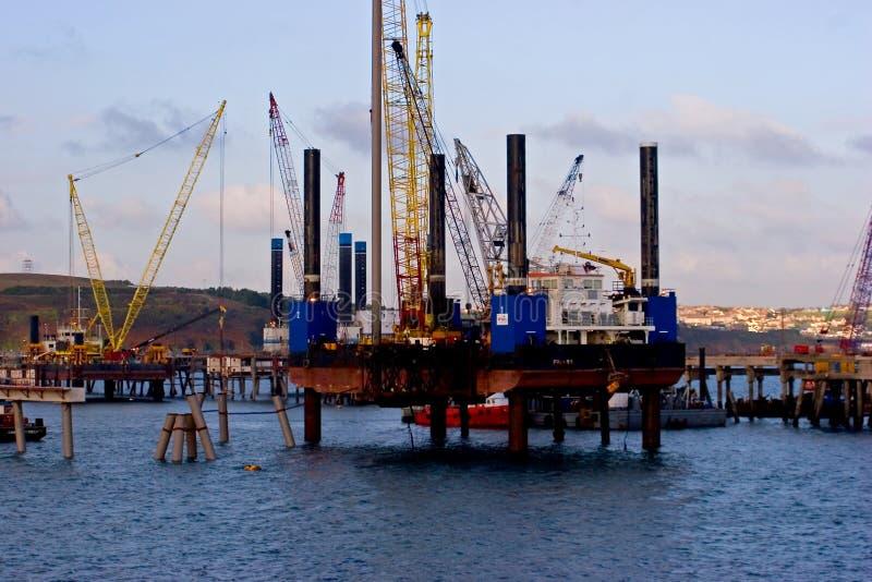 Impianto offshore del Pembroke immagini stock