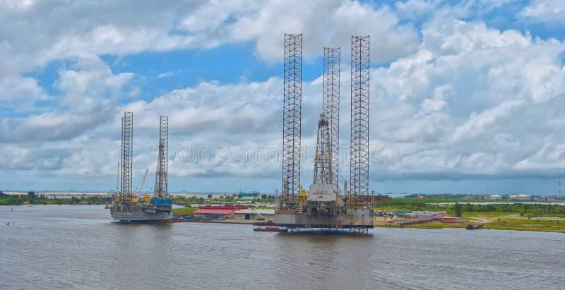 Impianto offshore in iarde fotografia stock