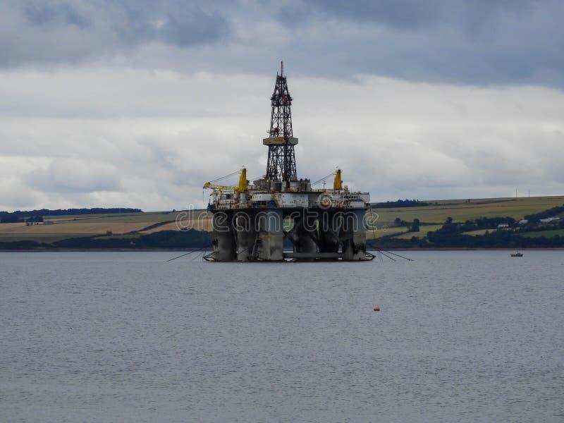Impianto offshore in Invergordon, Scozia immagini stock libere da diritti