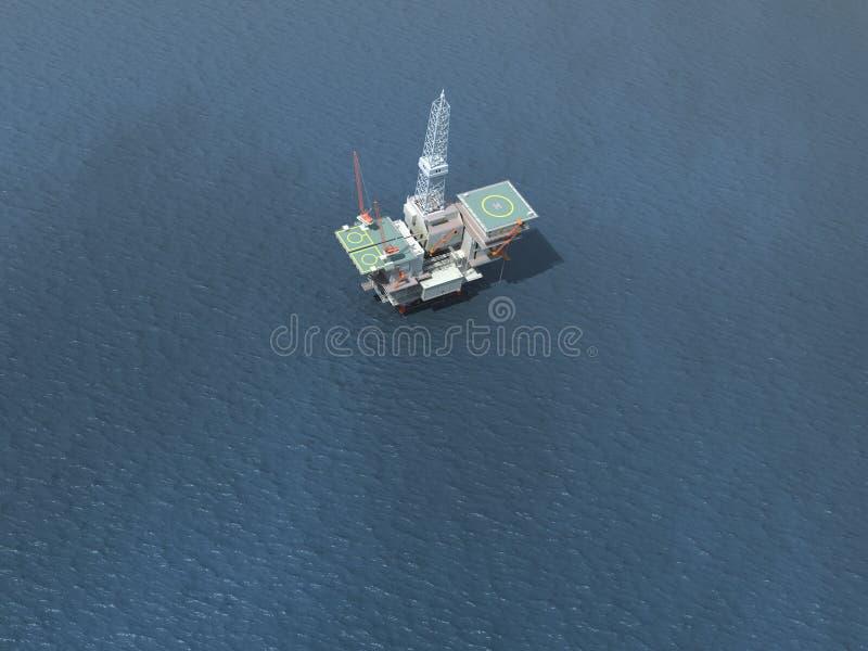 Impianto offshore in mare aperto illustrazione di stock