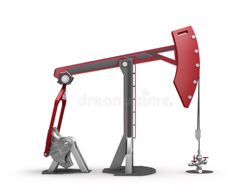 Impianto offshore: Presa della pompa su bianco illustrazione di stock