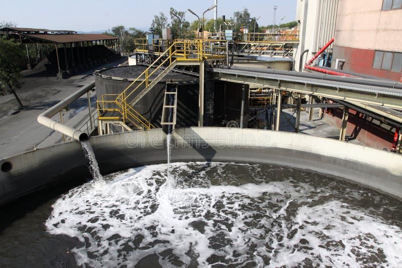 Impianto per il trattamento delle acque immagine stock