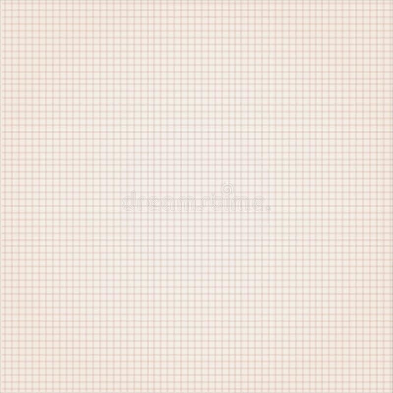 Impianto a scacchiera delicato del fondo di struttura di carta della tela fotografia stock