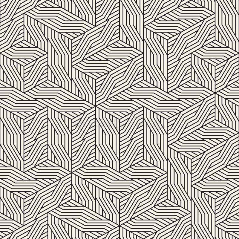Impianto a scacchiera irregolare senza cuciture di vettore Struttura astratta alla moda moderna Ripetizione della grata geometric royalty illustrazione gratis