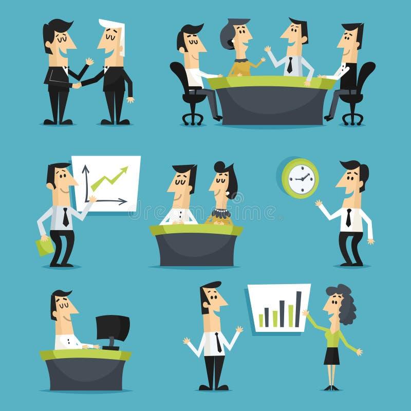 Impiegati di concetto piani illustrazione di stock