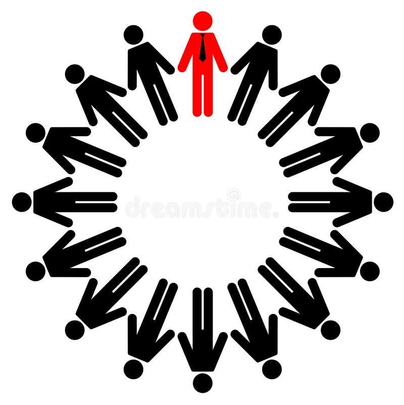 Impiegati e gestore illustrazione vettoriale