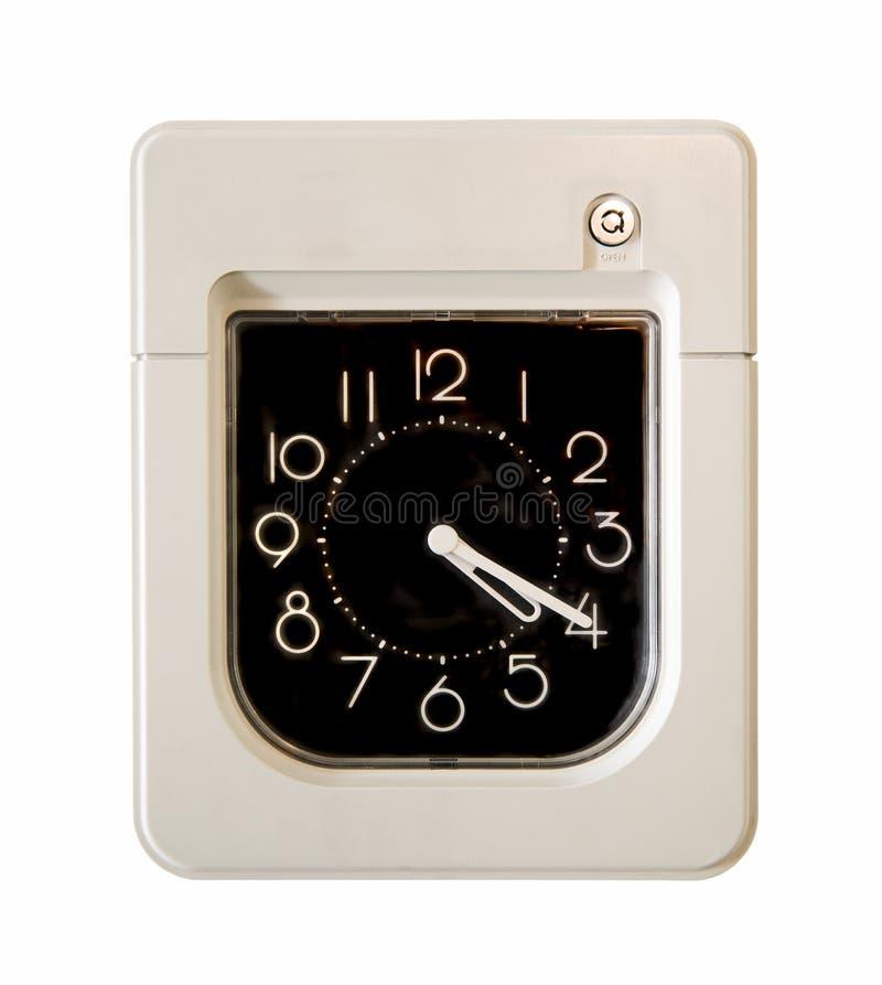 impiegato di controllo dell'orologio fotografie stock libere da diritti