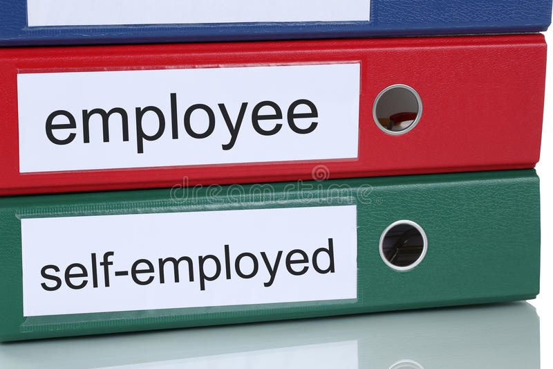 Impiegato o concetto di affari di lavoratore autonomo in ufficio immagine stock
