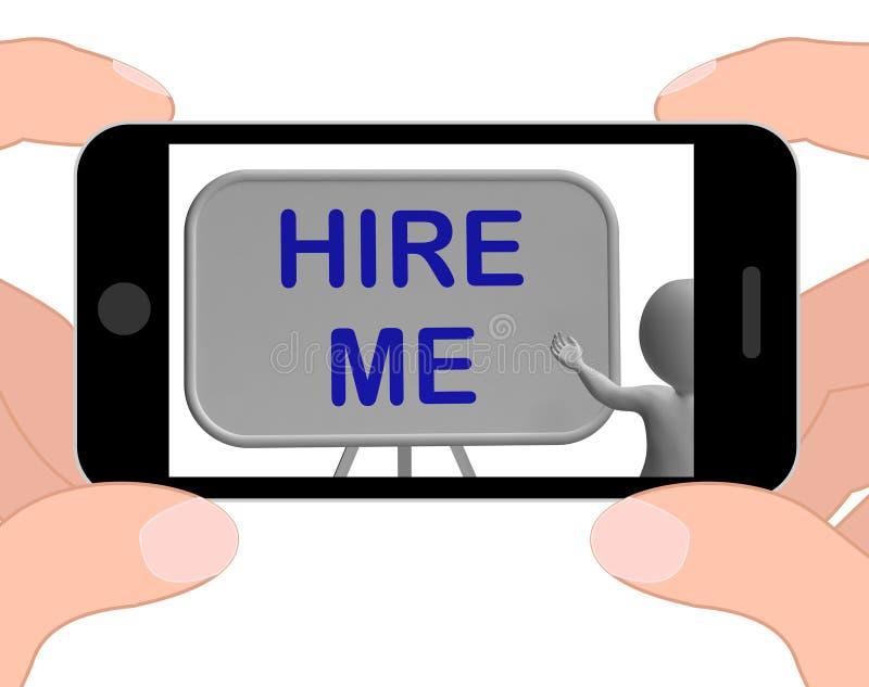 Impieghimi mezzi del telefono che fanno domanda per Job Vacancy royalty illustrazione gratis