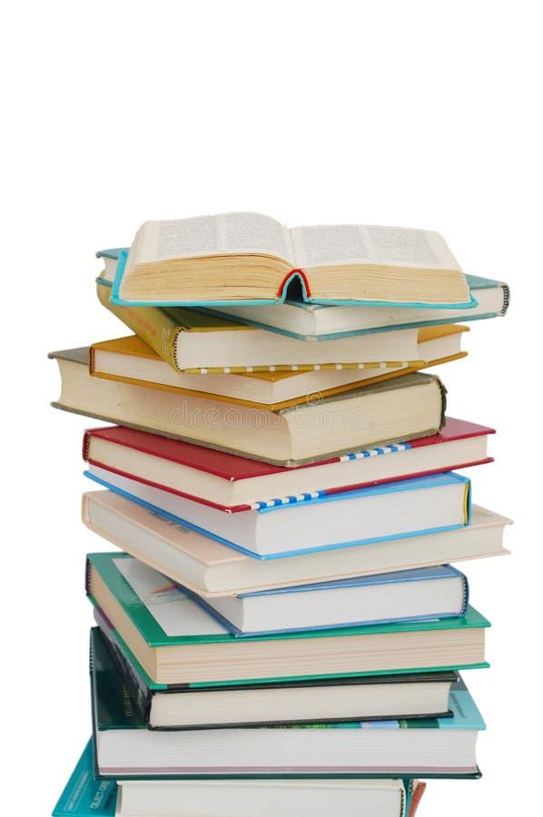 Impilamento dei libri fotografia stock