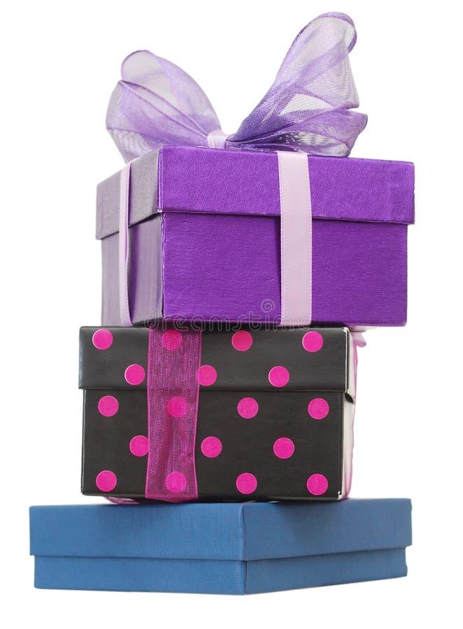 Impilamento del contenitore di regalo immagine stock libera da diritti