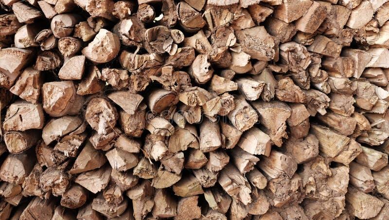 Impilato di legna da ardere fotografia stock