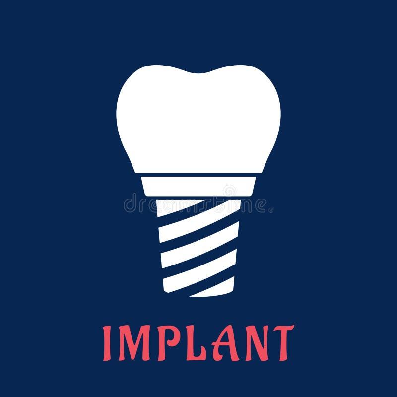 Implant dentaire avec la couronne de rechange illustration libre de droits