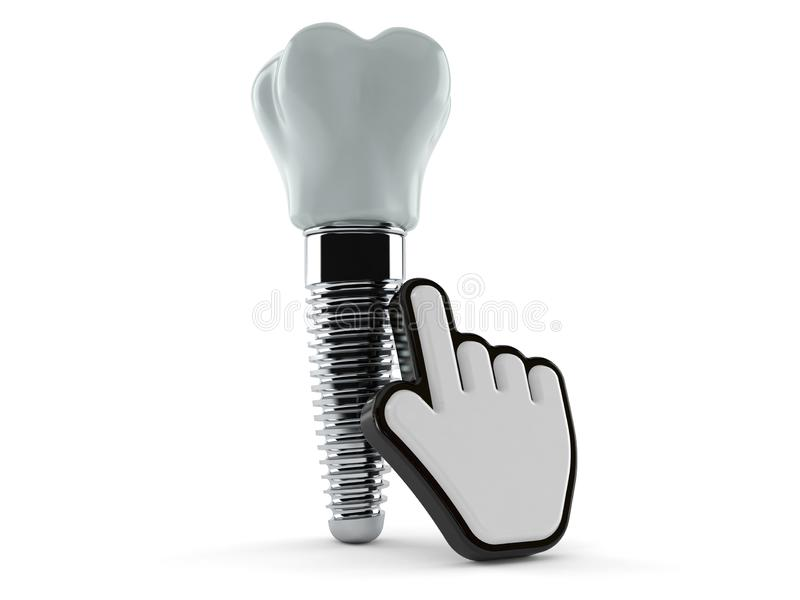 Implant dentaire avec le curseur de Web illustration libre de droits