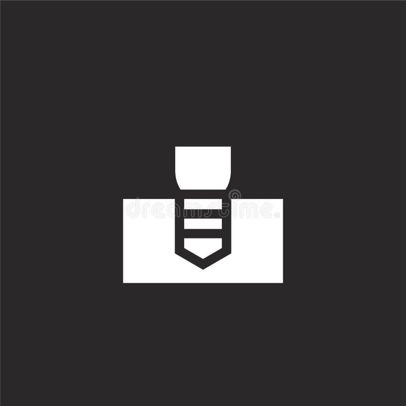 Implant pictogram Gevuld implant pictogram voor websiteontwerp en mobiel, app ontwikkeling implant pictogram van gevulde tandzorg royalty-vrije illustratie