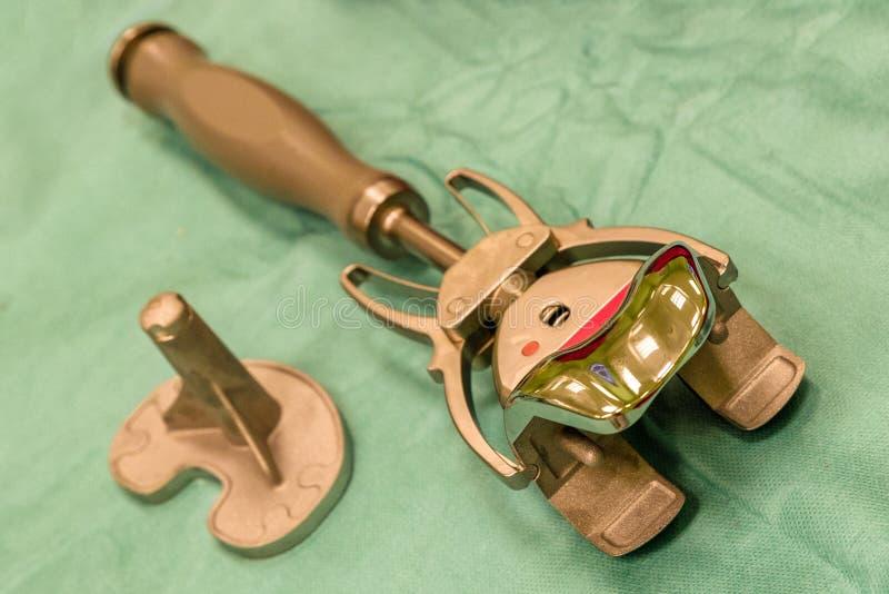 Implant van knieendoprosthesis stock afbeelding