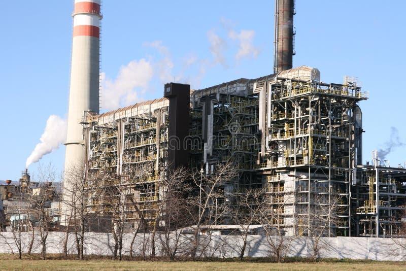 Implantation industrielle pétrochimique photographie stock libre de droits
