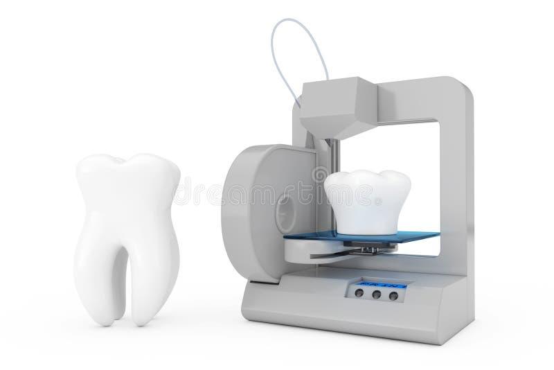 implante del diente de la impresión de la impresora 3d representación 3d libre illustration