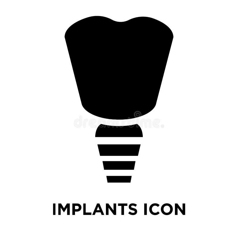 Implante le vecteur d'icône d'isolement sur le fond blanc, concept de logo illustration libre de droits