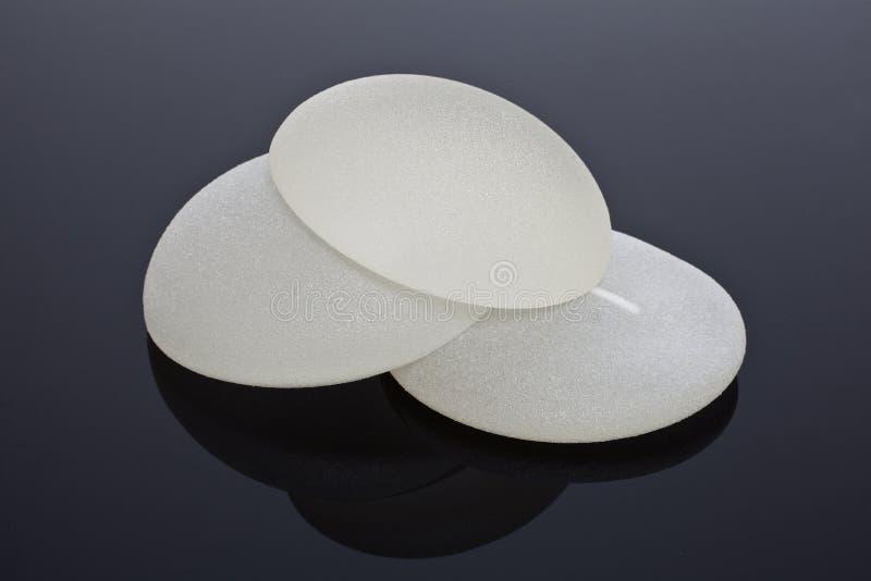Implantes de pecho del silicón fotografía de archivo libre de regalías