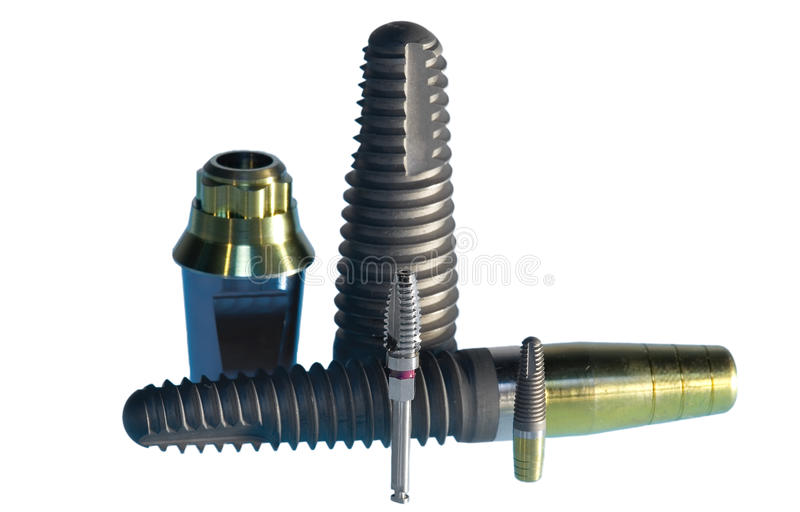 Implants dentaires image stock