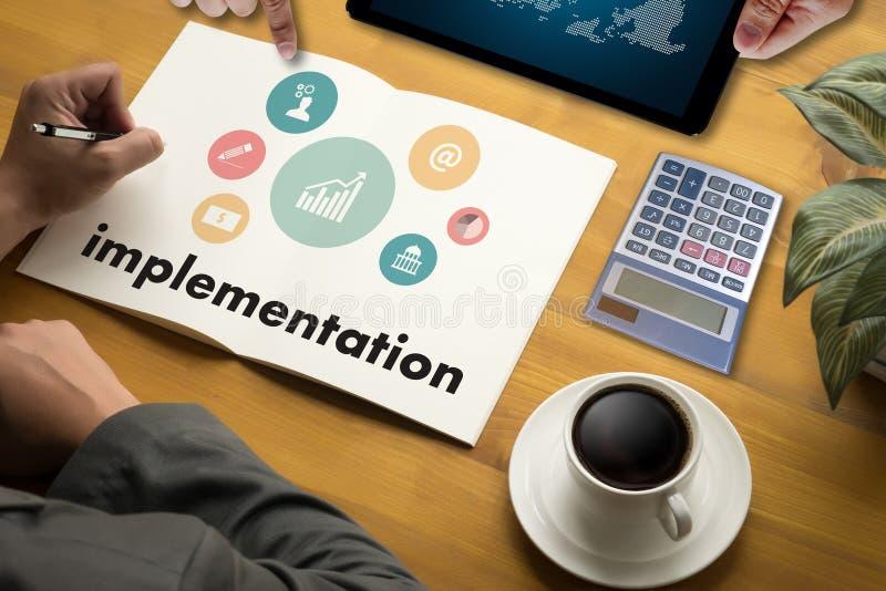 implementatieondernemer Business Venture Target aan Doelstellingen Exp stock foto's