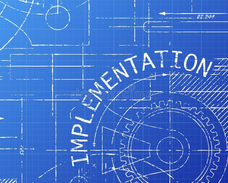 Implementation blueprint machine stock vector illustration of download implementation blueprint machine stock vector illustration of implement application 111097164 malvernweather Choice Image