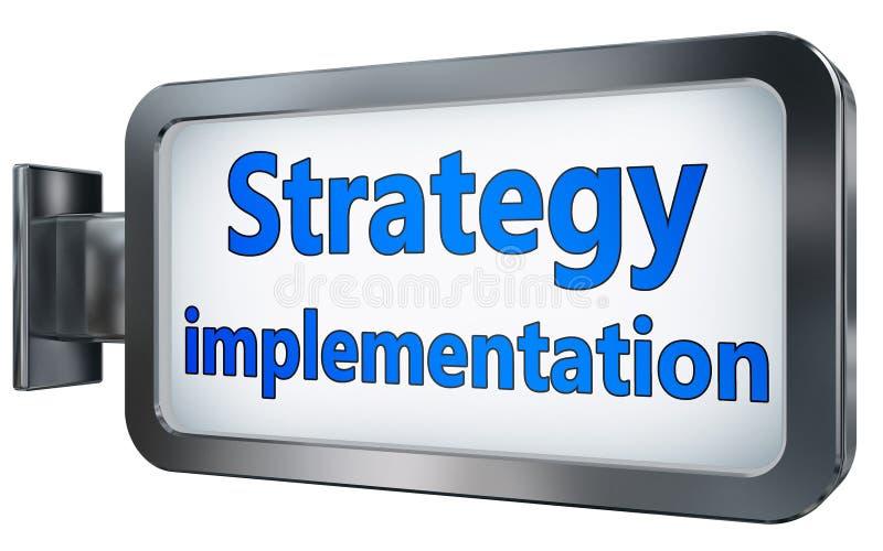 Implementazione di strategia sul tabellone per le affissioni illustrazione vettoriale