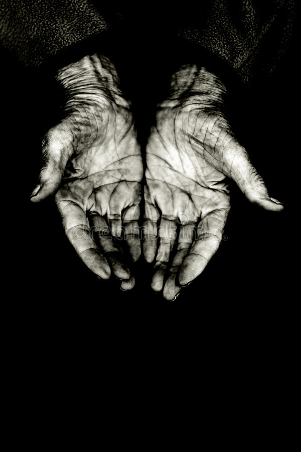 Implorazione delle mani immagini stock