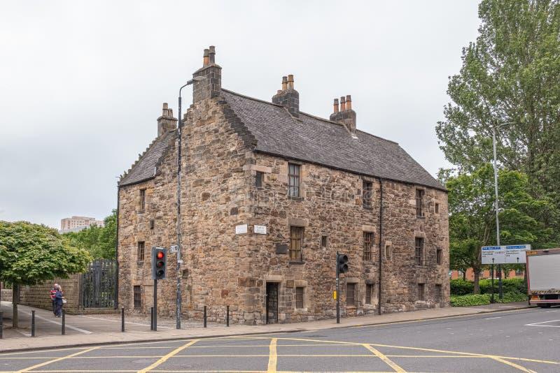 Imponująco Antyczna Glasgow architektura patrzeje «Provand seniorat «Starego dom w Glasgow zdjęcie royalty free