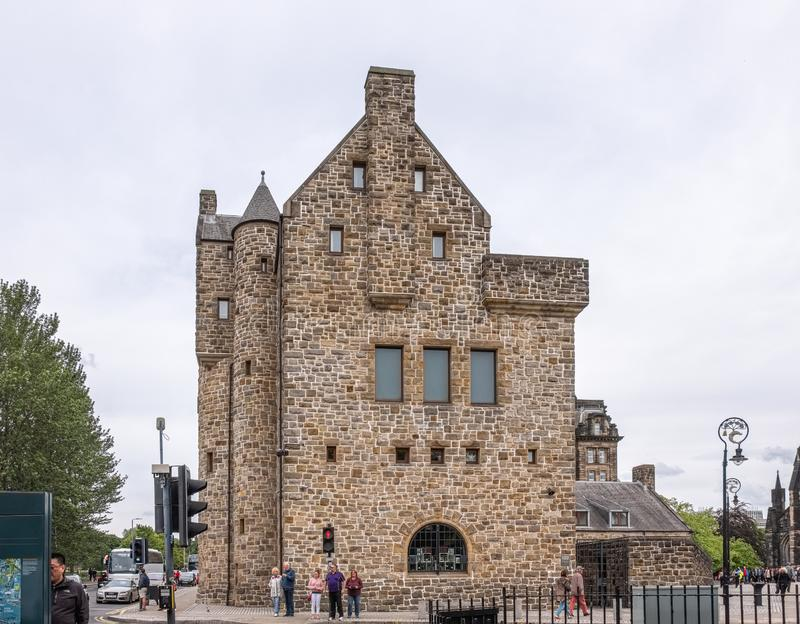 Imponująco Antyczna Glasgow architektura z St Mungo muzeum Religijny życie w Grodowym Ulicznym Glasgow zdjęcie royalty free