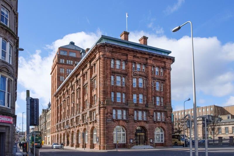 Imponująco architektura DC Thomson budynek w Dundee zdjęcie stock
