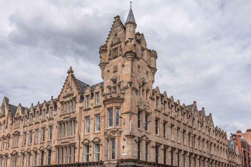 Imponująco architektura Glasgow miasta budynki przy Albion Trongate i ulicą fotografia royalty free