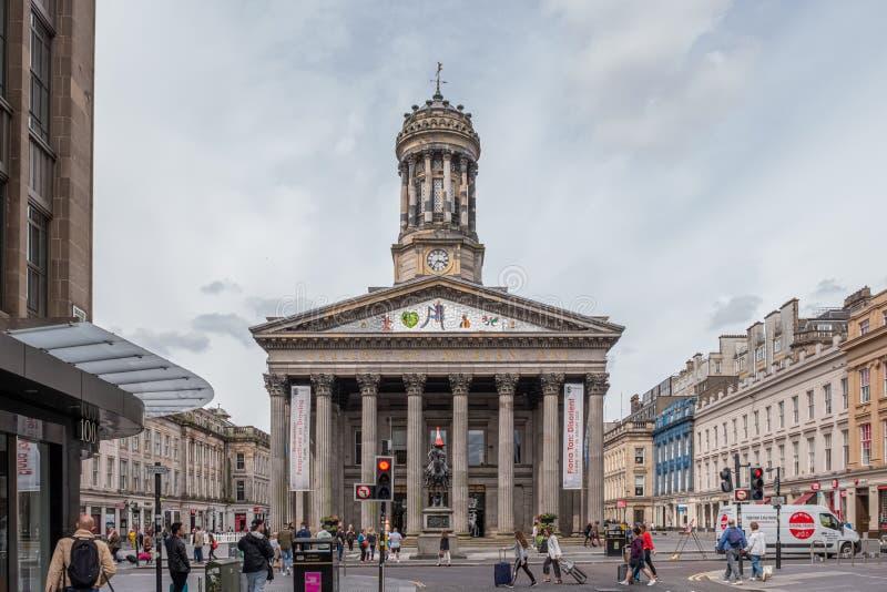 Imponująco architektura przy Glasgow galerią sztuka współczesna w Glasgow obraz stock