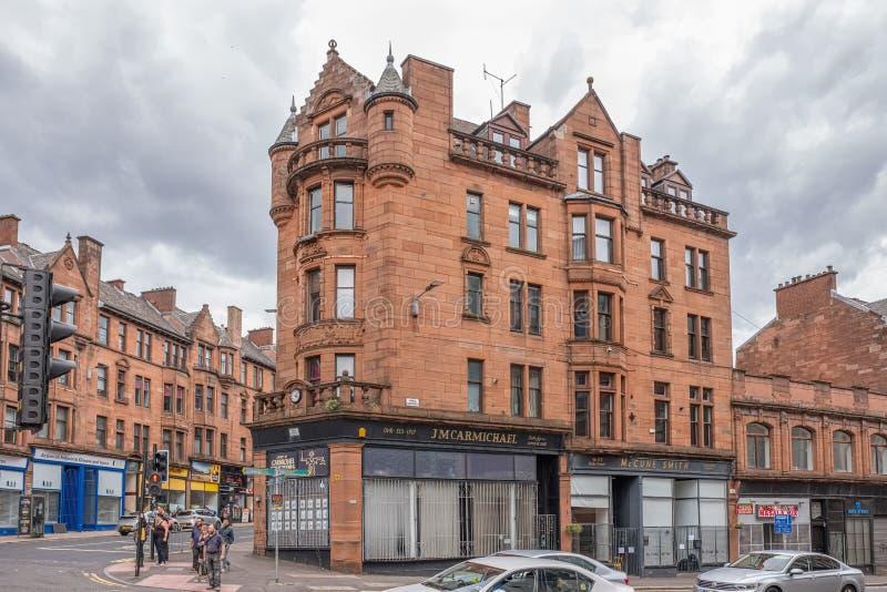 Imponująco architektura stary Glasgow przy liczbą 1 Duke Street Glasgow fotografia stock