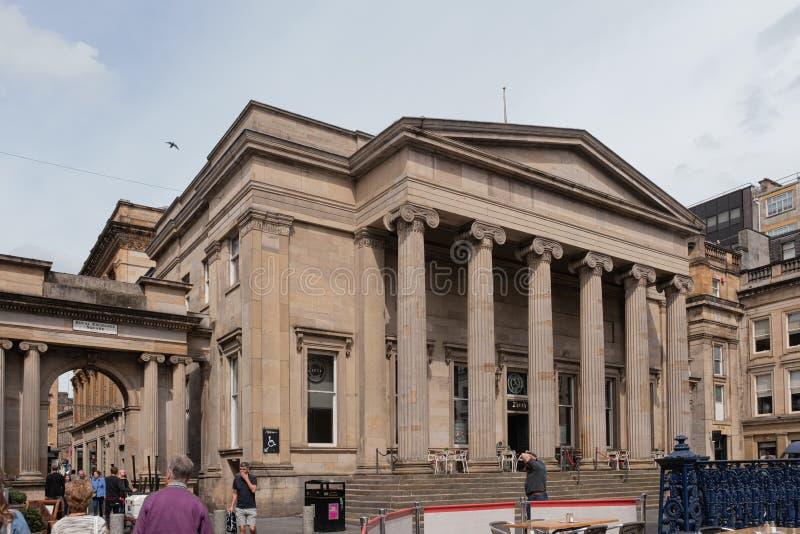 Imponująco architektura w Królewskim wymiana kwadracie Glasgow w Starym Royal Bank Szkocja budynek zdjęcia stock