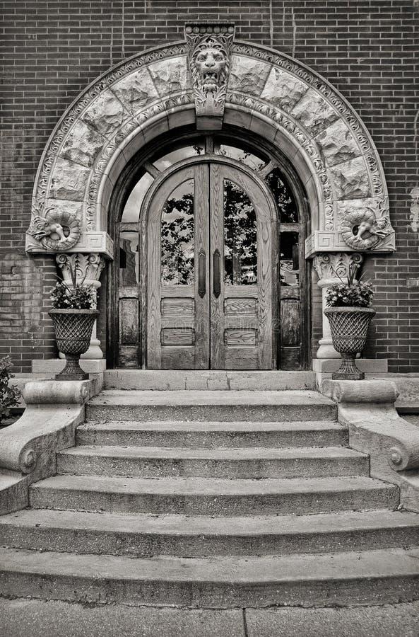 Imponująco drzwi obraz stock